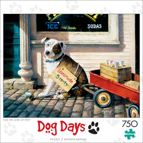 Dog Days For The Love Of Pete 750 Piece Jigsaw Puzzle Front