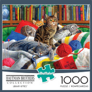 Hautman Brothers Library Kitties 1000 Piece Jigsaw Puzzle Front