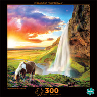 Photography Icelandic Waterfall 300 Piece Jigsaw Puzzle Front