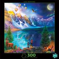 Photography Lake Moraine Journey 300 Piece Jigsaw Puzzle Front