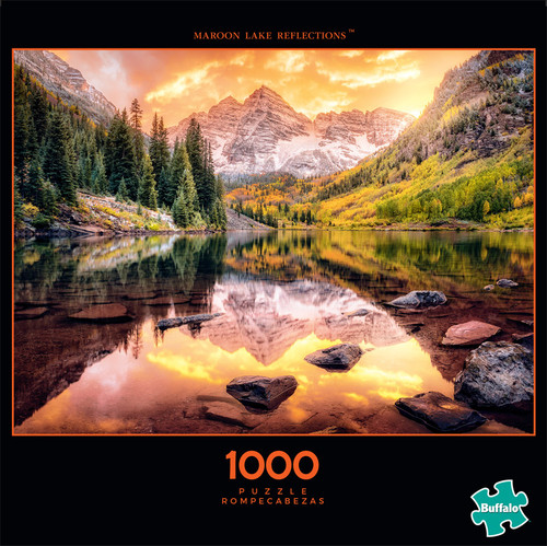 Photography Maroon Lake Reflections 1000 Piece Jigsaw Puzzle Front