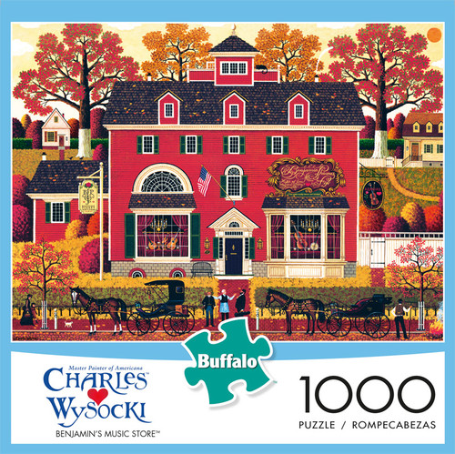 Charles Wysocki Benjamin's Music Store 1000 Piece Jigsaw Puzzle Front