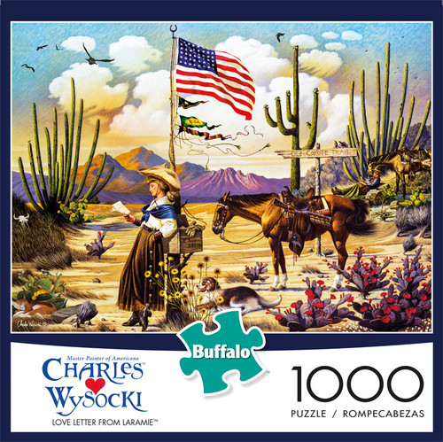 Charles Wysocki Love Letter from Laramie 1000 Piece Jigsaw Puzzle Front