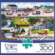 Charles Wysocki Cricket Hawk Harbor 300 Large Piece Jigsaw Puzzle Front