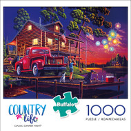 Country Life Geno Peoples Classic Summer Night 1000 Piece Jigsaw Puzzle Front