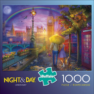 Night & Day London Rain 1000 Piece Jigsaw Puzzle Front