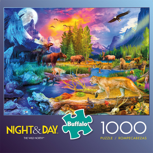 Night & Day The Wild North 1000 Piece Jigsaw Puzzle Front
