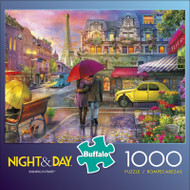 Night & Day Raining in Paris 1000 Piece Jigsaw Puzzle Front