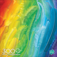 Color Explosion Plumes of Color 300 Large Piece Jigsaw Puzzle Front