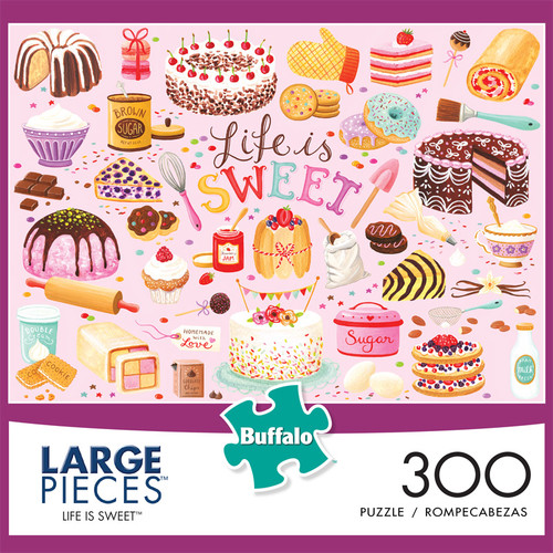Life Is Sweet 300 Large Piece Jigsaw Puzzle Front