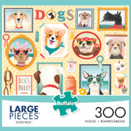 Dogs Rule 300 Large Piece Jigsaw Puzzle Front