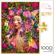 Flights of Fantasy Spring Queen Glitter Edition 1000 Piece Jigsaw Puzzle Fron