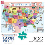 Tour The States 300 Large Piece Jigsaw Puzzle Front