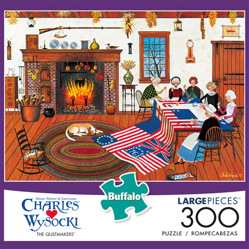 Charles Wysocki The Quiltmakers 300 Large Piece Jigsaw Puzzle Front