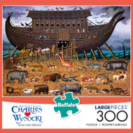 Charles Wysocki Noah and Friends 300 Large Piece Jigsaw Puzzle Front