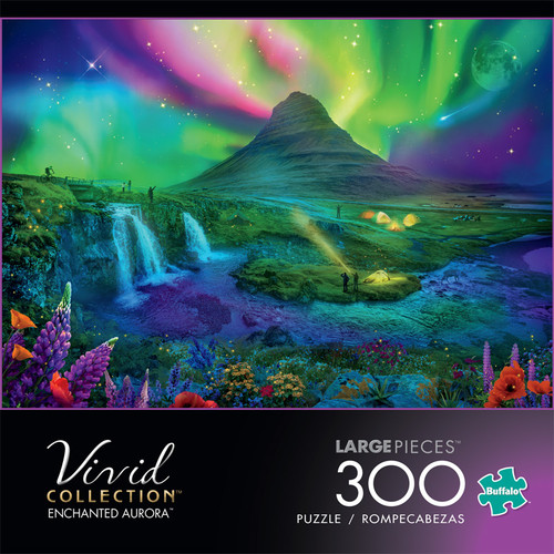 Vivid Enchanted Aurora 300 Large Piece Jigsaw Puzzle Front
