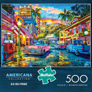 Americana Collection Old Hollywood 500 Piece Jigsaw Puzzle Front