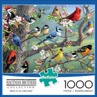 Hautman Brothers Birds in an Orchard 1000 Piece Jigsaw Puzzle Front