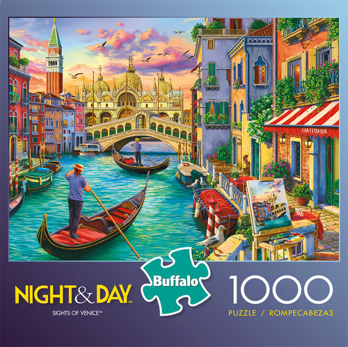 Night & Day Sights of Venice 1000 Piece Jigsaw Puzzle Front