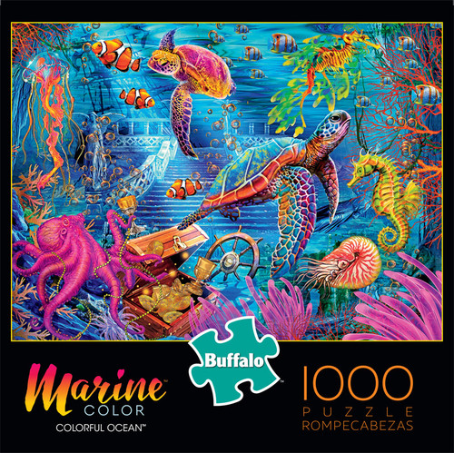 Marine Color Colorful Ocean 1000 Piece Jigsaw Puzzle Front