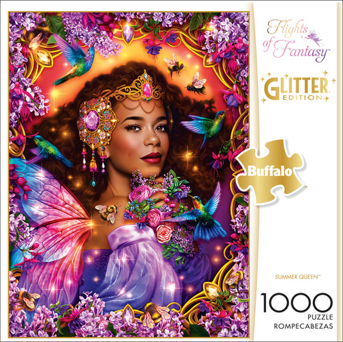 Flights of Fantasy Summer Queen Glitter Edition 1000 Piece Jigsaw Puzzle Front