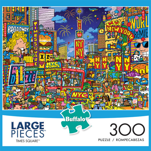 Times Square 300 Large Piece Jigsaw Puzzle Front