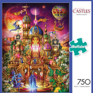 Majestic Castles Krystol's Palace 750 Piece Jigsaw Puzzle Front