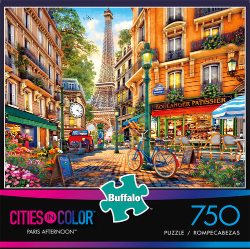 Cities in Color Paris Afternoon 750 Piece Jigsaw Puzzle Front