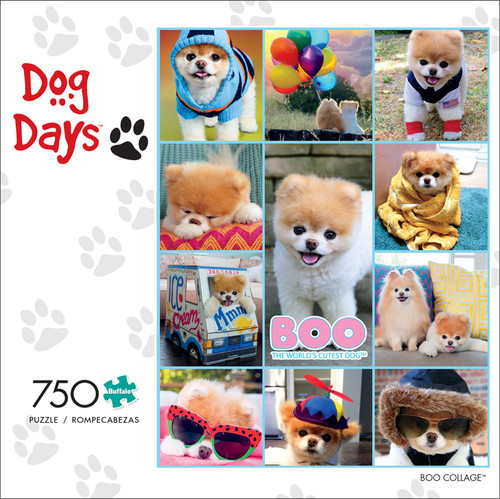 Dog Days Boo Collage 750 Piece Jigsaw Puzzle Front