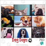 Dog Days Pet's Virtual Hangout 750 Piece Jigsaw Puzzle Front