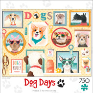 Dog Days Dogs Rule 750 Piece Jigsaw Puzzle Front