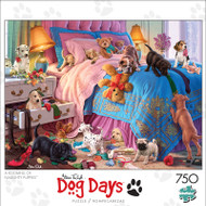 Dog Days A Roomful of Naughty Puppies 750 Piece Jigsaw Puzzle Front