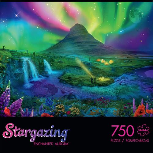 Stargazing Enchanted Aurora 750 Piece Jigsaw Puzzle Front