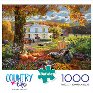 Country Life Autumn Paradise 1000 Piece Jigsaw Puzzle Front