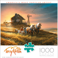 Terry Redlin For Amber Waves of Grain 1000 Piece Jigsaw Puzzle Front
