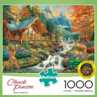 Chuck Pinson Alpine Serenity 1000 Piece Jigsaw Puzzle Front