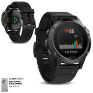 Garmin Fenix 5 Multisport GPS Sports Watch Integrated HRM - Slate Grey (Garmin Newly Overhauled)