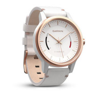 Garmin Vivomove Classic Fitness Tracker with White Leather Band (Garmin Newly Overhould)