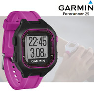 Garmin Forerunner 25 GPS Fitness Running Watch - Small, Black/Purple (Garmin Newly Overhauled)