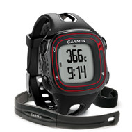 Garmin Forerunner 10 GPS Running Watch with HRM - Large - Black / Red (Garmin Newly Overhauled)