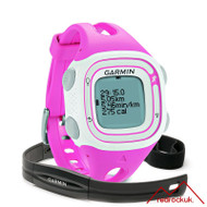 Garmin Forerunner 10 GPS Running Watch with HRM - Pink / White (Garmin Newly Overhauled)