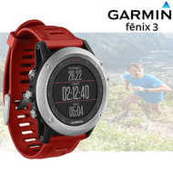 Garmin Fenix 3 Multisport GPS Sports Watch with Outdoor Navigation - Red/ Silver (Garmin Newly Overhauled)