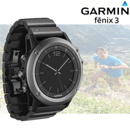 Garmin Fenix 3 Multisport GPS Sports Watch with Outdoor Navigation - Sapphire (Garmin Newly Overhauled)