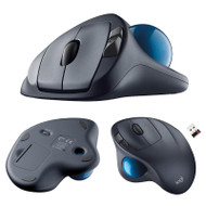 Logitech M570 Wireless Trackball Mouse - Ergonomic Design - Right-hand Shape