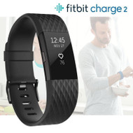 Fitbit Charge 2 GPS Activity Tracker With Integrated HRM - Black - Large