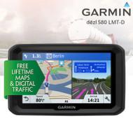 "Garmin Dezl 580LMT-D 5"" Truck Sat Nav - Europe - Lifetime Maps & Traffic - WiFi"