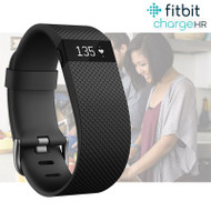 Fitbit Charge HR Fitness Activity Tracker with Heart Rate - Black - Small