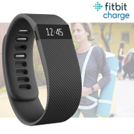 Fitbit Charge Fitness Activity Tracker Wristwatch Pedometer - Black - Small