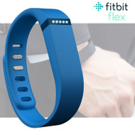 Fitbit Flex Fitness Activity Tracker Pedometer - Blue - Small & Large Straps