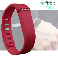 Fitbit Flex Fitness Activity Tracker Pedometer - Red - Small & Large Straps